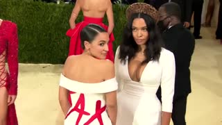 AOC Wears Dress with 'Tax the Rich' Statement in Met Gala