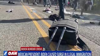 Mexican president says Biden caused surge in illegal immigration