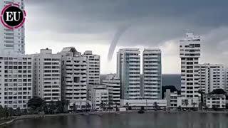 Tornado en la ciudad de Cartagena