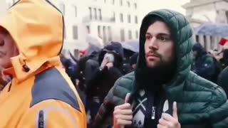 Germans protesting against lockdowns in Berlin