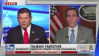 Pentagon Press Secretary John Kirby is asked why the British can get people out