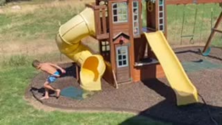 Water Slide Face Plant!