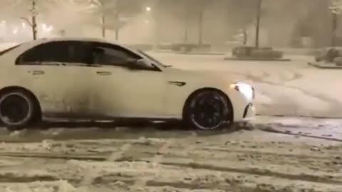 My love for winter and car is priceless
