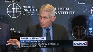 Dr. Fauci & Friends Discussing Universal Flu Vaccine - Excerpts From C-Span 2019