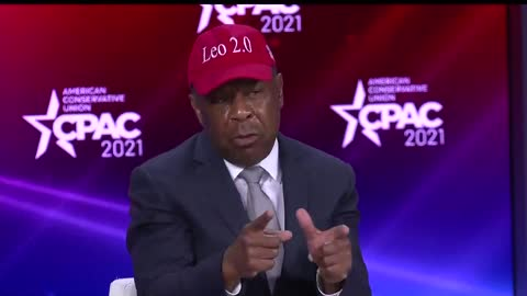 Leo Terrell at CPAC 2021
