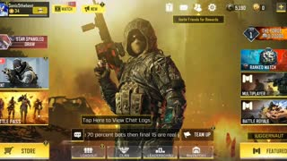 Plaing call of duty mobile
