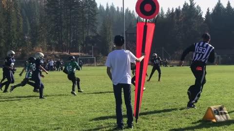Epic football interception by 11 yr old