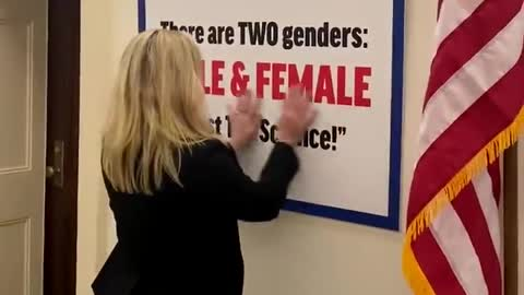Marjorie Taylor Greene Responds to Transgender Flag With Sign of Her Own — Libs LOSE IT