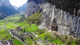 Drone View cinematic scenery ( Mountain )