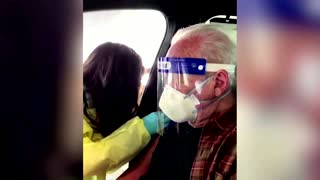 Actor Anthony Hopkins receives COVID-19 vaccine