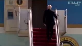 Biden falls 3 times OMG lol