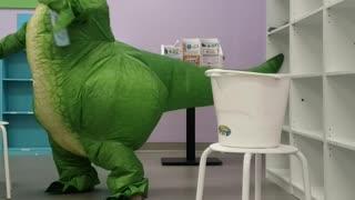 Dinosaur Cleaning