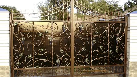 Best Design Wrought- Iron Gates – Ideas of Metal Gates With Elements of Artistic Forging