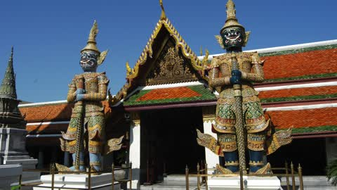 The Grand Palace and Wat Phra Keaw in Bangkok, Thailand.
