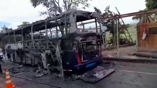Bus de Copetrán se incendió en la vía Bucaramanga – Barrancabermeja