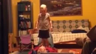 Playing with granpa