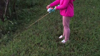 Middle child fishing