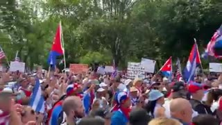 Cuban Protesters Gather Outside WH to Teach Biden About Communism ..!!!