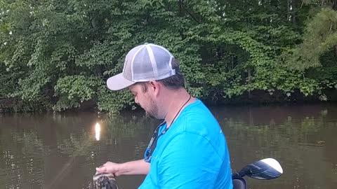 Big Bass from a kayak 😮