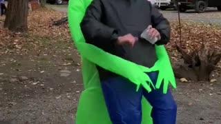 Inflatable Alien Makes Great Dance Partner