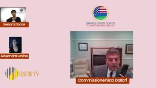 SEMINOLE COUNTY COMMISSIONER DISTRICT 1 DEBATE | COMMISSIONER BOB DALLARI | SEND'OR TV