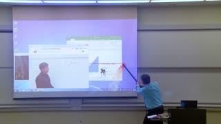 Maths Professor Fixes Projector Screen April Fools Prank