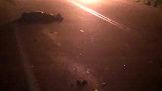 Video: Un motociclista muerto y un vehículo incendiado en accidente en la vía San Gil-Charalá