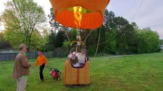 A magical flight for special couple