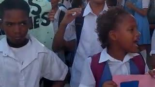 Protestas de estudiantes del Colegio Fernandez Baena