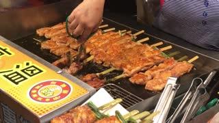 Taiwan Street Food - Lots of meat