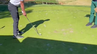 Rapping on golf course