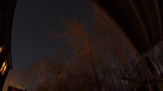Night sky fast time lapse