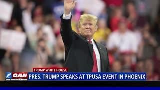 President Trump speaks at TPUSA event in Phoenix