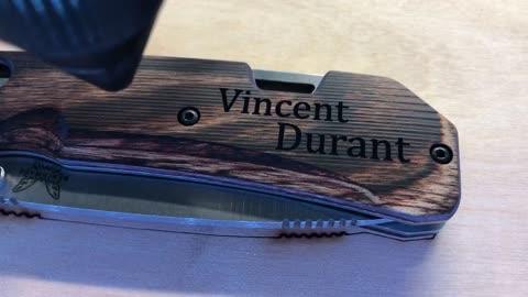 Laser Engraving Benchmade Knife
