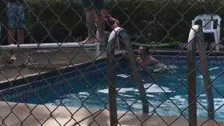 Epic Back Flip Diving Board Fail