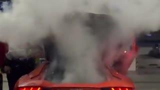 Lamborghini burns into Fire - Instant Karma