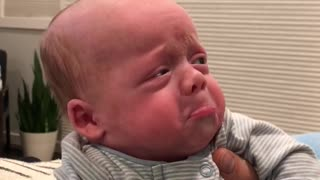 Baby Gets Agitated by Dad's Beard