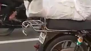 Biker Shows His Talent