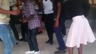 University students Dancing
