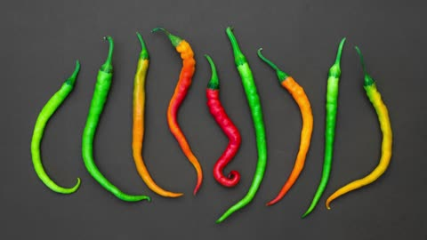 Dance of colored pepper