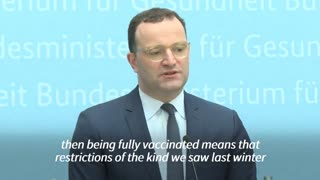Germany health Minister vows no more lockdowns for vaccinated people