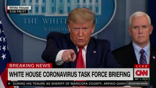 Trump ignores Kaitlan Collins #1