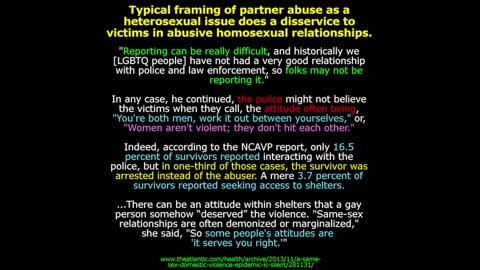 LGBT Domestic Violence Facts & Prevention Video