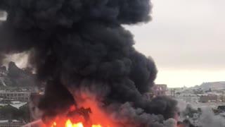 Massive 5-alarm fire in San Francisco's SOMA neighborhood