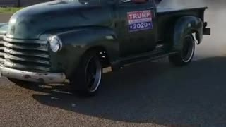 1950 Chevy Truck Burnout