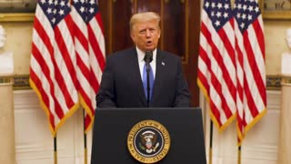 President Trump delivers his farewell address to America