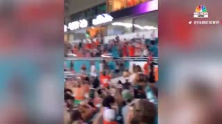 Watch: Miami Fans Using American Flag To Catch Falling Cat at Hard Rock Stadium