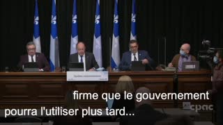 Quebec QR code Pressure by Health Minister