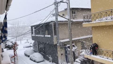 Winter Snowstorm Lake Effect Snow (Aegean Effect Snow)