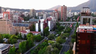 Las Condes time lapse night lights in Santiago, Chile